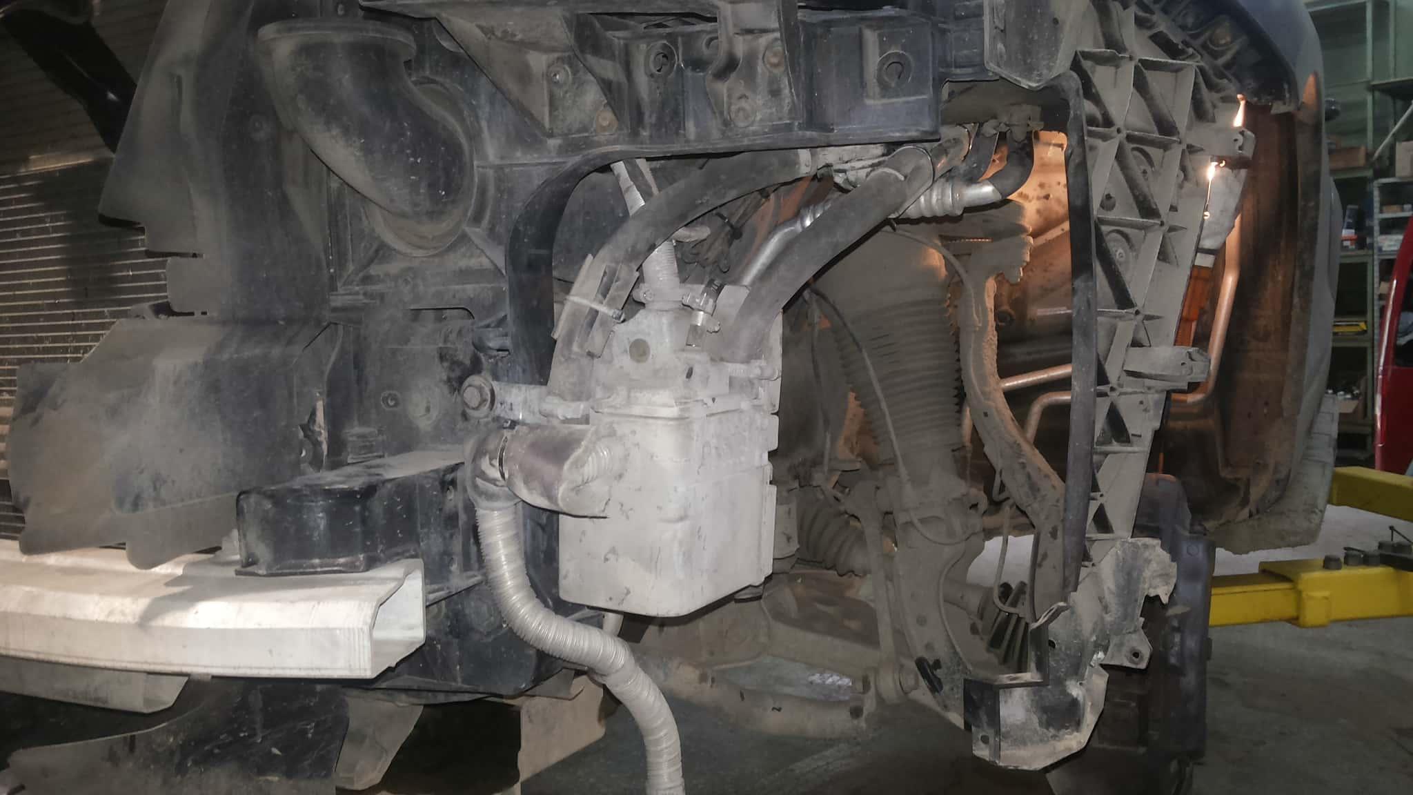 Установка вебасто на Audi Q7