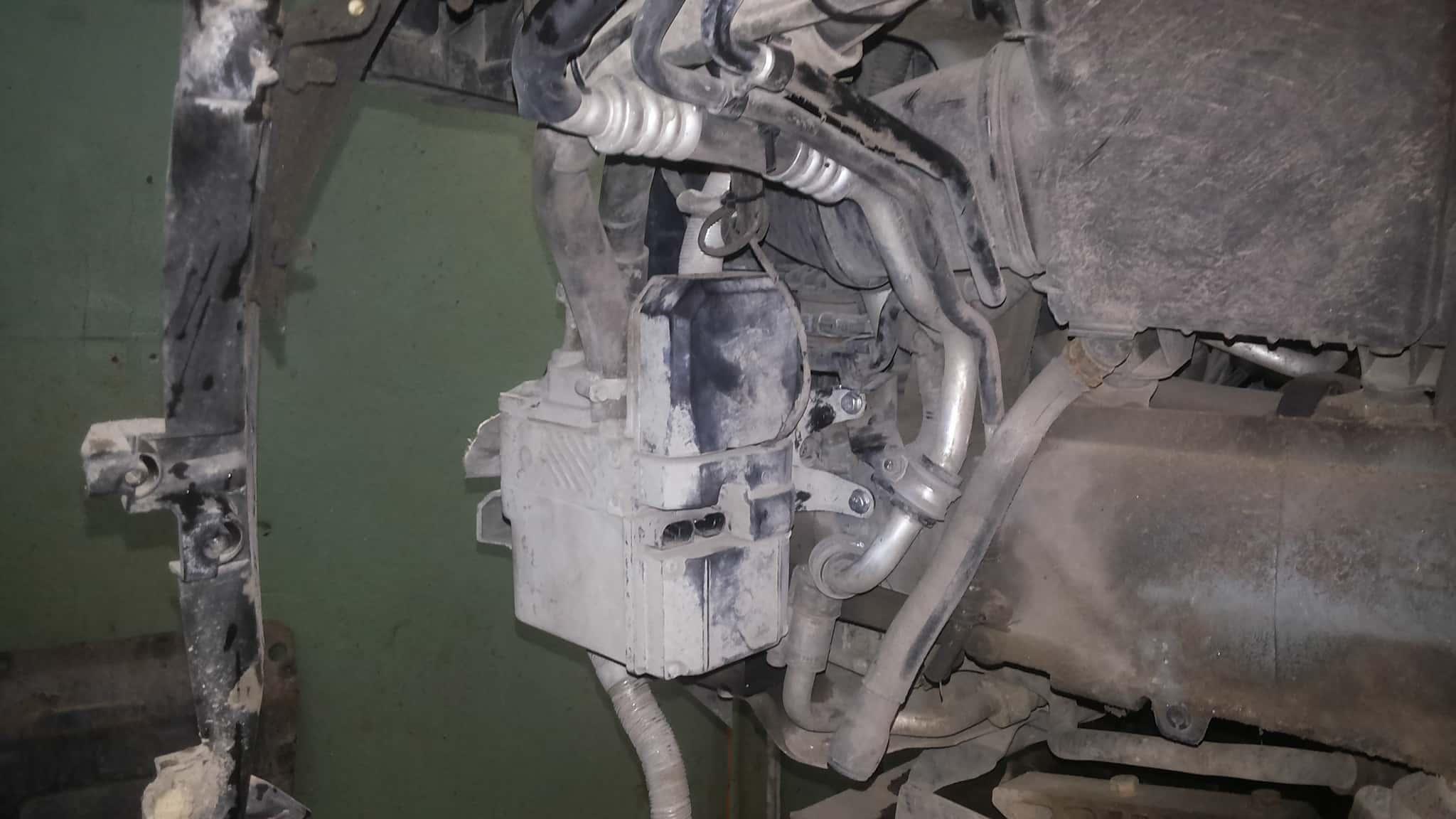 Место установки вебасто на Audi Q7 под бампером